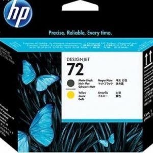genuine original hp 72 black yellow c9384a